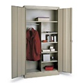 Tennsco Deluxe Combination Wardrobe And Storage Cabinet