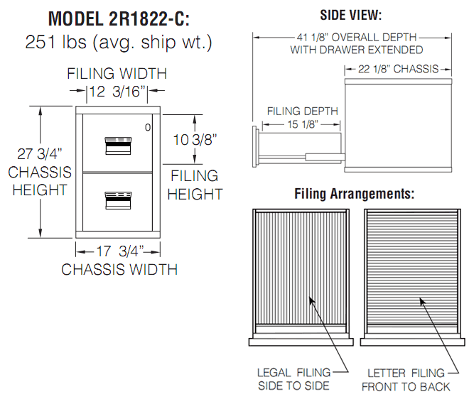 FireKing Turtle 2R1822-C Diagram