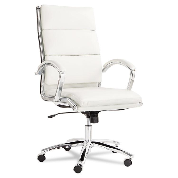 Alera Neratoli Nr4106 High-back Leather Slim Profile Executive Office Chair White
