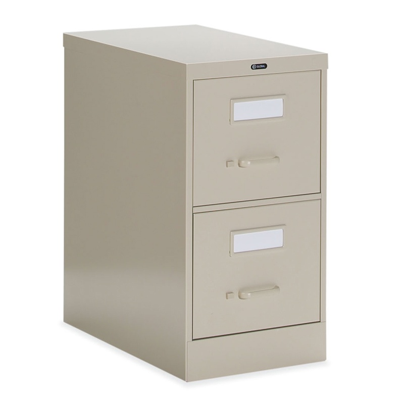 "Global 25-200 2-Drawer 25"" Deep Vertical File Cabinet  Letter 25-200"