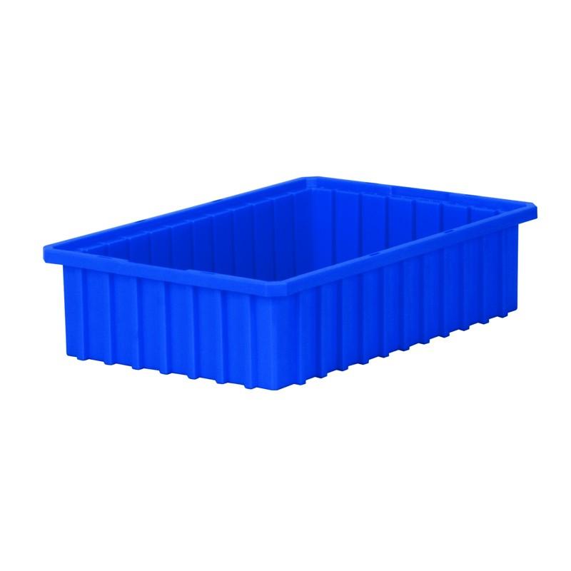 """Akro-mils Akro-grid 16-1/2"""" D X 10-7/8"""" W X 4"""" H Plastic Storage Bins 12 Pack"""