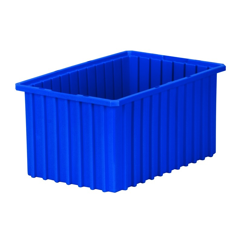 """Akro-mils Akro-grid 16-1/2"""" D X 10-7/8"""" W Plastic Storage Bins 6 Pack"""