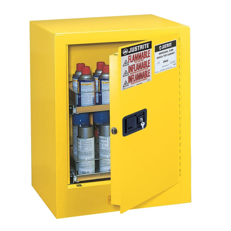Justrite Sure-Grip EX 890500 Countertop Flammable Storage Cabinet  24 Aerosol Cans 890500