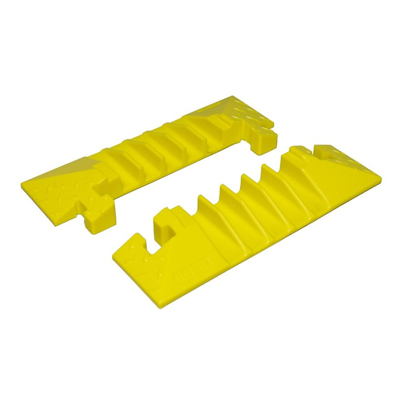 "Checkers 5-channel 1.25"" Bumble Bee Cable Protector End Boots With T-bone Connector Set Of 2"