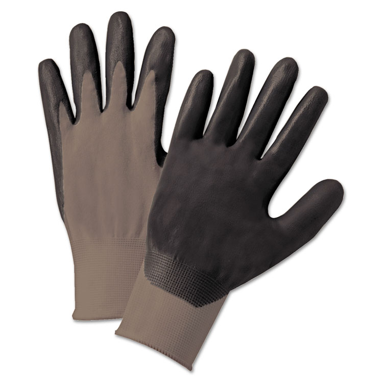 Anchor Brand Nitrile Coated Gloves Gray/dark Gray Nylon Knit Large 12/pairs