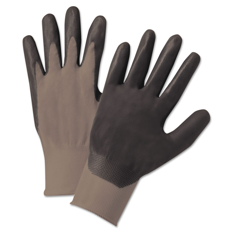 Anchor Nitrile Coated Gloves Dark Gray Nylon Knit X-large 12/pairs