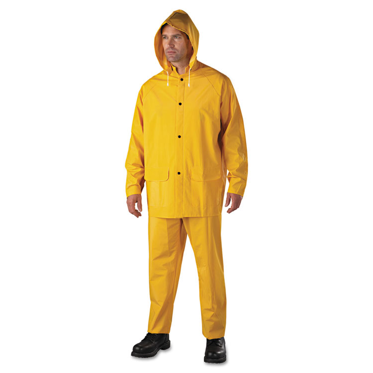Anchor Brand Rainsuit Pvc/polyester Yellow Large