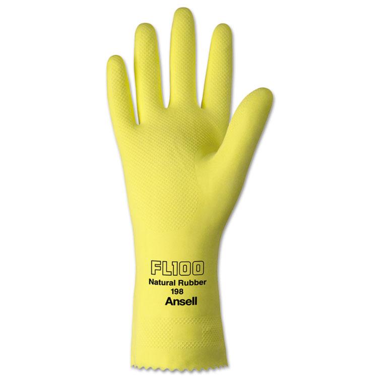 Ansellpro Protuf Latex/nylon Lightweight Gloves Large 12/pair