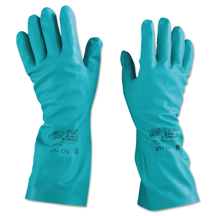 Ansellpro Sol-vex Nitrile Gloves Size 8 12/pairs