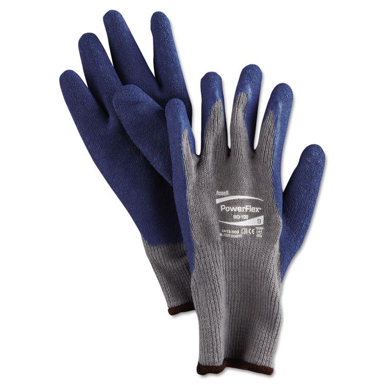 Ansellpro Powerflex Gloves Blue/gray Size 9