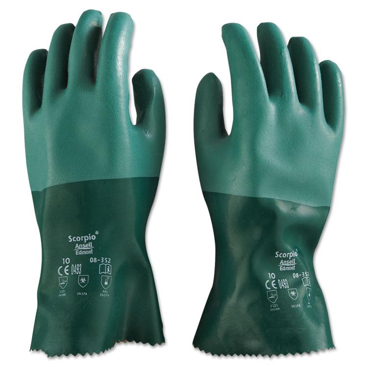 Ansellpro Scorpio Neoprene Gloves Green Size 10 12/pair
