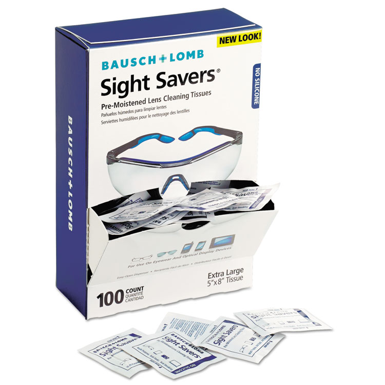 Bausch & Lomb Sight Savers Premoistened Lens Cleaning Tissues 100 Tissues/pack