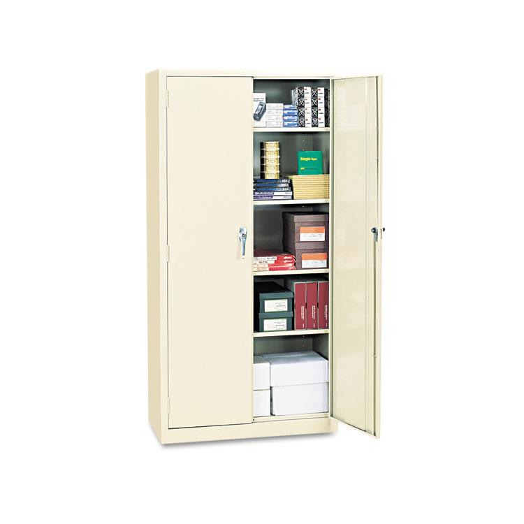 """Alera Cm7218py 36"""" W X 18"""" D X 72"""" H Storage Cabinet In Putty Assembled"""