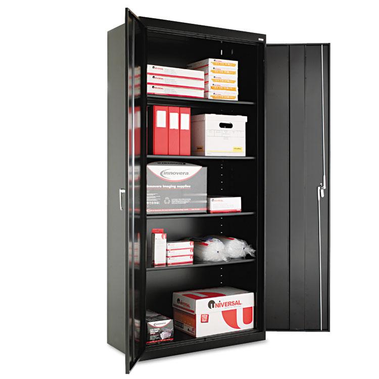 """Alera Cm7818bk 36"""" W X 18"""" D X 78"""" H Storage Cabinet In Black Assembled"""