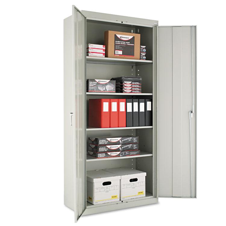 "Alera Cm7818lg 36"" W X 18"" D X 78"" H Storage Cabinet In Light Grey Assembled"