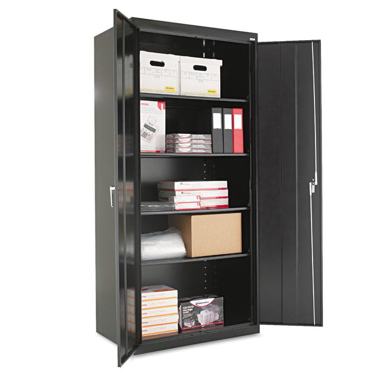 """Alera Cm7824bk 36"""" W X 24"""" D X 78"""" H Storage Cabinet In Black Assembled"""