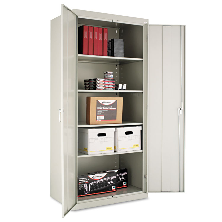 "Alera Cm7824lg 36"" W X 24"" D X 78"" H Storage Cabinet In Light Grey Assembled"