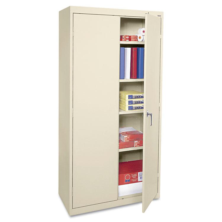 """Alera Cme7218py 36"""" W X 18"""" D X 72"""" H Storage Cabinet In Putty Assembled"""