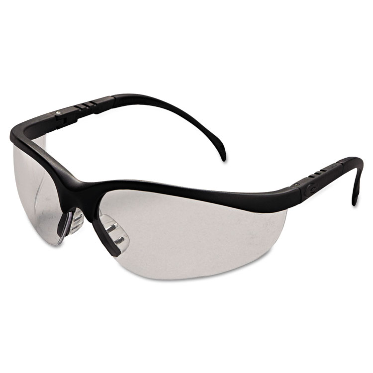 Crews Klondike Safety Glasses  Matte Black Frame  Clear Lens  12/Pack KD110BX