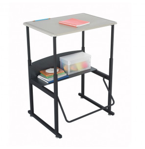 "Safco AlphaBetter 1201BE 28"" x 20"" Height Adjustable Stand-Up Student Desk (example of use)"