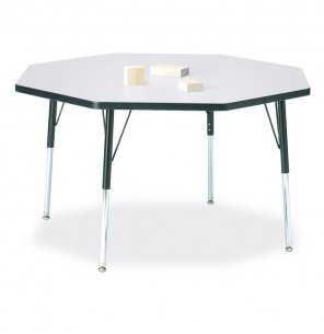 "Jonti-Craft Berries 48"" x 48"" Octagon Classroom Activity Table (Shown in Grey / Black)"