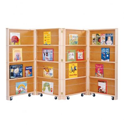 Jonti Craft 4 Section Mobile Library Classroom Bookshelf