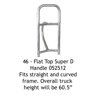 Wesco 46 Flat Top Super D Handle fits Straight and Curved Frames