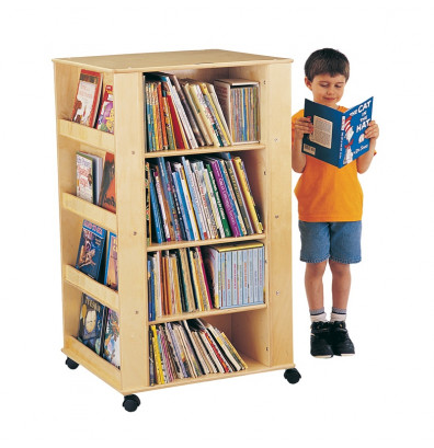 Jonti-Craft ThriftyKYDZ Mobile Book & Media Tower Display