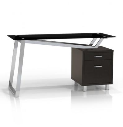 Mayline Soho 1001vg 55 W Straight Front Pedestal Office Desk Gl Top Shown