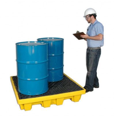 "Ultratech 1230 P4 51"" W x 51"" L Nestable Spill Pallet without Drain, 66 Gallons (example of application)"