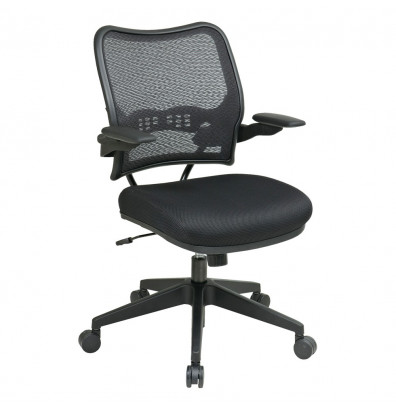 Office Star Space Seating Deluxe AirGrid Mesh Mid-Back Office Task Chair (Shown in Black)