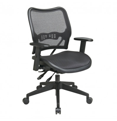 Office Star Deluxe AirGrid Mesh Mid-Back Task Chair (Model 13-77N9WA)