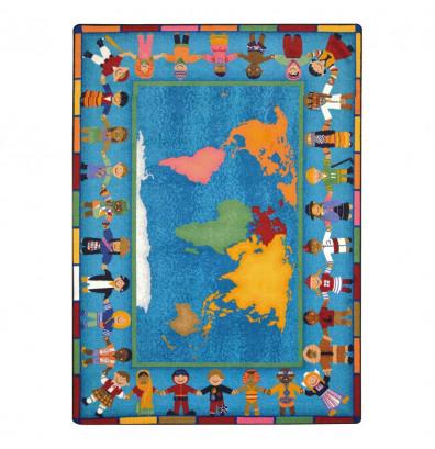 Joy Carpets Hands Around the World Classroom Rug