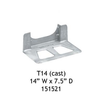 "Wesco T14 Aluminum Cast 14"" W x 7.5"" D Noseplate"