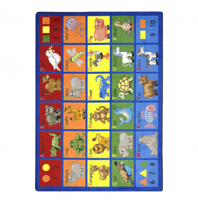 Joy Carpets Animal Phonics Classroom Rug
