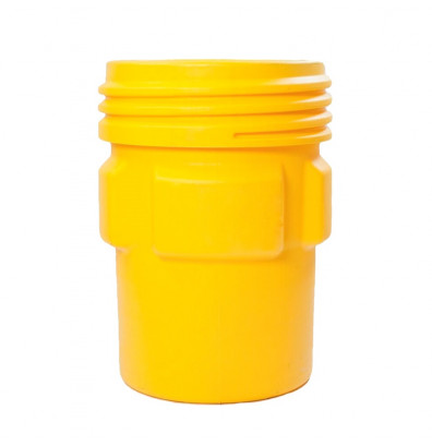 Eagle 1690 Overpack Screw Lid Poly Drum, 95 Gallons, Yellow