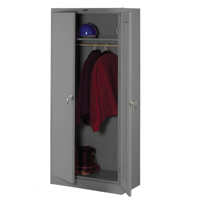 Tennsco Deluxe Wardrobe Cabinets (shown in medium grey)