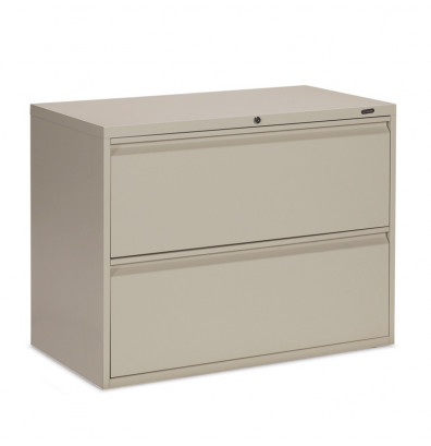 "Global 1936P-2F12 2-Drawer 36"" Wide Lateral File Cabinet, Letter & Legal (Shown in Desert Putty)"