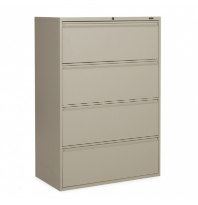 "Global 1936P-4F12 4-Drawer 36"" Wide Lateral File Cabinet, Letter & Legal (Shown in Desert Putty)"