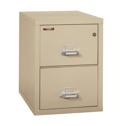 """FireKing 2-Drawer 31"""" Deep 1-Hour Rated Fireproof File Cabinet, Legal - Shown in Parchment"""
