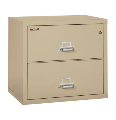 """FireKing Standard 2-3122-C 2-Drawer 31"""" Wide Lateral Fireproof File Cabinet - Shown in Parchment"""