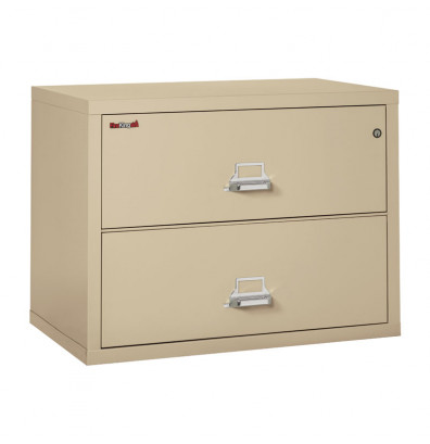 """FireKing 2-Drawer 38"""" Wide 1-Hour Rated Lateral Fireproof File Cabinet - Shown in Parchment"""