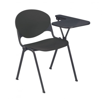"KFI Seating 2000-P 14"" x 20"" Tablet Arm Stacking Chair, Left-Hand (Charcoal)"