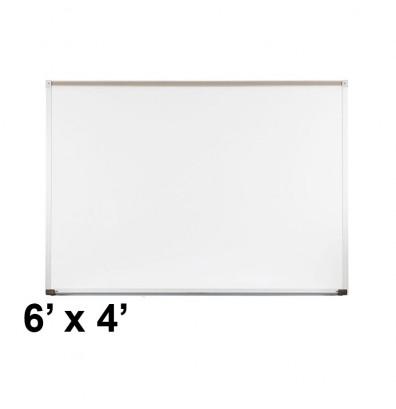 Best-Rite 202AG Aluminum Trim 6 ft. x 4 ft. Porcelain Magnetic Whiteboard