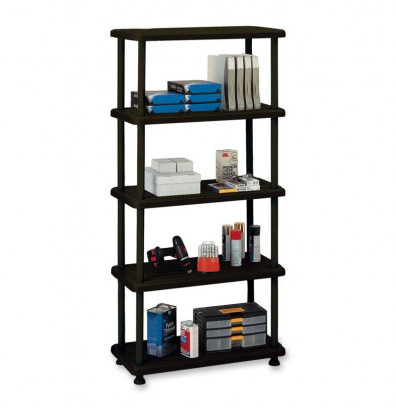 Iceberg 5-Shelf Open Storage Heavy-Duty Shelving (Shown in Black)