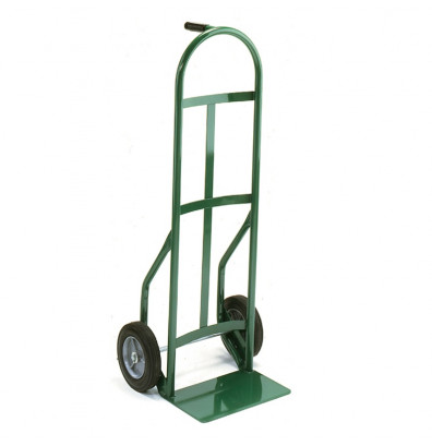 """Wesco 626Z2 Standard Steel Hand Truck 7"""" x 14"""" Nose 600 lbs Capacity 10"""" Poly/Solid Rubber"""