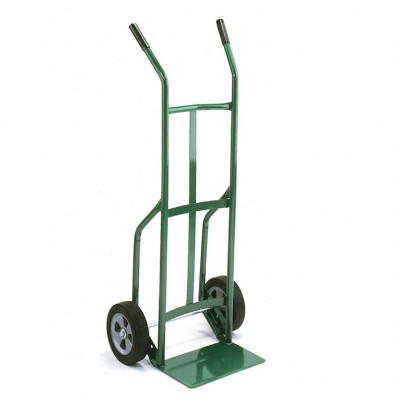 "Wesco 636Z2 Standard Steel Hand Truck 7"" x 14"" Nose 600 lbs Capacity 10"" Poly/Solid Rubber Wheels"