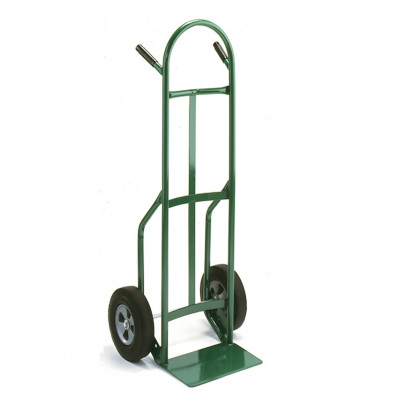 """Wesco 646Z2 Standard Steel Hand Truck 7"""" x 14"""" Nose 600 lbs Capacity 10"""" Poly/Solid Rubber Wheels"""
