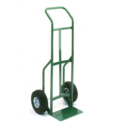 "Wesco 656Z Standard Steel Hand Truck 7"" x 14"" Nose 600 lbs Capacity 10"" Steel/Semi-Pneumatic Wheels"