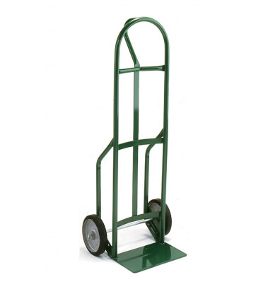 """Wesco 626DZ8 Standard Steel Hand Truck 7"""" x 14"""" Nose 500 lbs Capacity 8"""" Poly/Solid Rubber Wheels"""